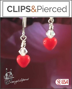 Big Still my Little Heart, Earrings | Your choice:  Pierced or Clip on