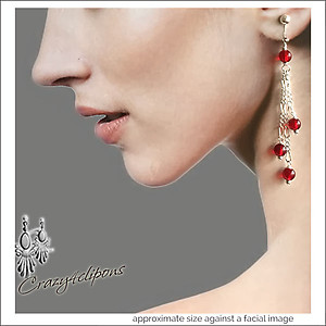 Holiday  Dangling  Berries Earrings |Pierced or Clip on