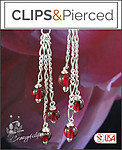 Dangling Red Berries Earrings | Your choice:  Pierced or Clip on