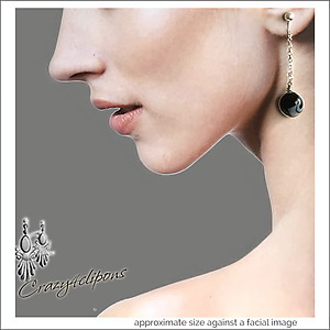 Linear Long Glass Murano Beads Earrings | Your choice:  Pierced or Clip on