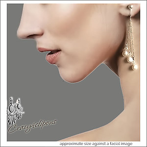 Long Dainty Bridal Pearl Earrings | Your choice:  Pierced or Clip on