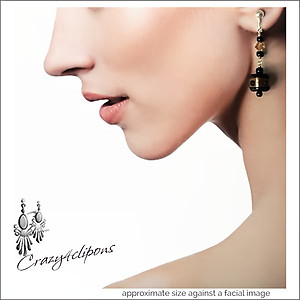 Pandoras Box Bead Earrings | Your choice:  Pierced or Clip on