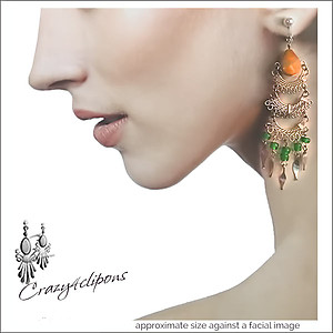 Ethnic Dangling Earrings - Pierced and Clip-on Earrings