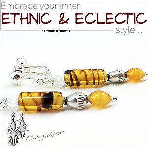 Butterscotch Vintage Glass Earrings | Your choice:  Pierced or Clip on