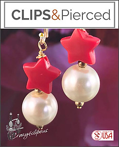 Pierced & Clip Earrings: Petite Faux Pearls