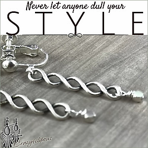 Linear Sterling Silver Pierced & Clip Earrings