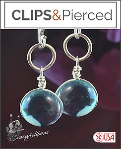 Duo-toned Murano Glass Earrings | Your choice: Pierced or Clip on