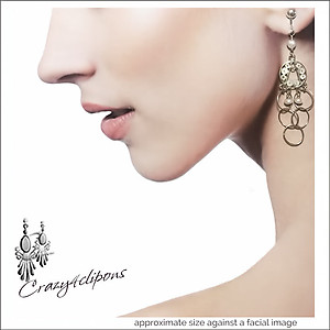 Dangling Hoops Earrings | Your choice: Pierced or Clips