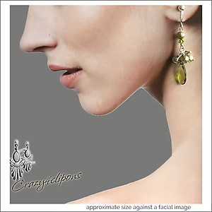 Zirconia & Pearls Long Earrings | Your choice: Pierced or Clips