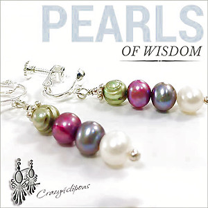 Pearl Quartet Earrings | Your choice: Pierced or Clips