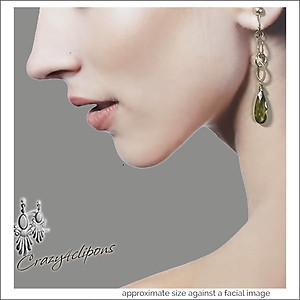 Sterling Silver & Zirconium Crystal Earrings | Your choice: Pierced or Clips