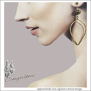 Sophisticated Gold Leave Hoop Earrings