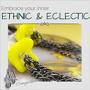 Eclectic, Lucite and Chains Dangling Earrings | Your choice:  Pierced or Clips
