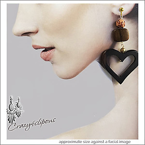 Chunky Hearts Earrings | Pierced & Clips