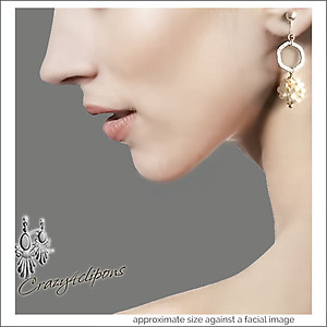 Brides: Pearl Clustered Earrings | Your choice:  Pierced or Clips