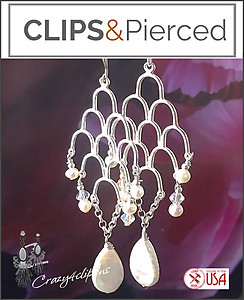 Specially for Brides:  Pearl Earrings | Your choice:  Pierced or Clips