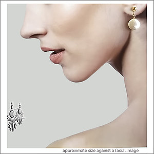 Bridal: Fresh Water Coin Pearl Earrings | Your choice: Pierced or Clips
