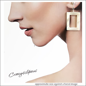 Summer Retro White Earrings | Your choice:  Pierced or Clips