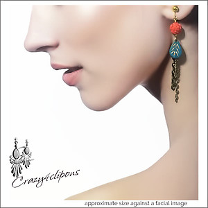 Modern Eclectic & Distressed Tassel Earrings | Your choice:  Pierced or Clips