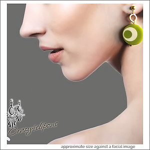 Fun!  CandlyLand Hoop Earrings | Your choice:  Pierced or Clips