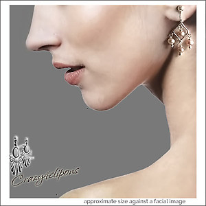 Dangling Mini Pearl Chandelier Earrings | Your choice:  Pierced or Clips