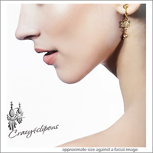 Pearl & Butterflies Earrings | Your choice:  Pierced or Clips