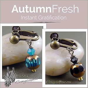 A little bit of Autumn Earrings | Your choice: Pierced or Clips