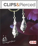 Silver Sterling Teardrop Earrings | Your choice:  Pierced or Clips