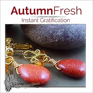 Autumn Rich Teardrop Earrings | Your choice:  Pierced or Clips