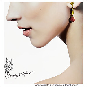 Fancy Dangling Earrings | Your choice:  Pierced or Clips