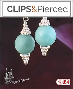 Small Semi-precious Stone Earrings | Your choice:  Pierced or Clips