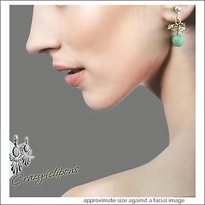 Pearls, Swarovski Crystal & Amazonite Earrings | Your choice: Pierced or Clips
