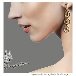 14k Gold Filled Triple Hoop Earrings | Your choice: Pierced or Clips