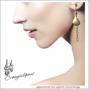 Gold Filled Dangling Teardrop Earrings | Your choice:  Pierced or Clips