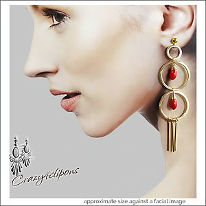 Striking Double Hoops Earrings