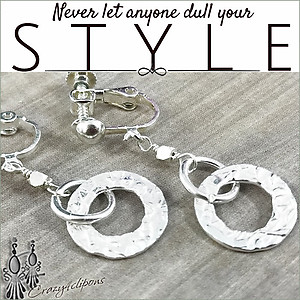 Textured Sterling Silver Hoops. Pierce & Clip Earrings