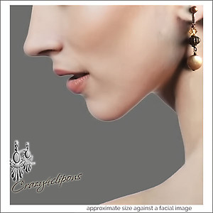 Artisan Pearls & Antique Copper Earrings | Your choice:  Pierced or Clips