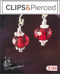 Christmas Little Red Earrings | Your choice: Pierced or Clips
