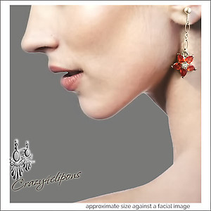 Crystal & Zirconium Floral Earrings | Your choice:  Pierced or Clips