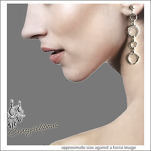 Dangling Mini Hoop Earrings | Your choice:  Pierced or Clips