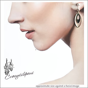Sterling Silver Hoops w/ Antique Brass Earrings | Your choice:  Pierced or Clips