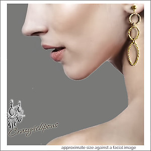 14K Textured Gold Filled Earrings | Your choice:  Pierced or Clips