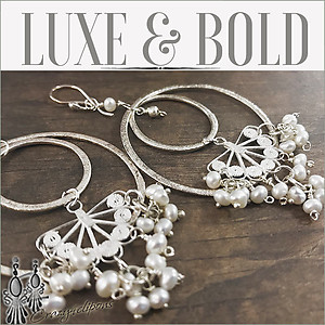 Luxe- Sterling Silver Pearls & Hoop Earrings