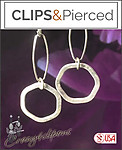 Sterling Silver Hoop Earrings | Your choice:  Pierced or Clips