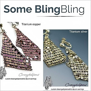 Bold & Dangling Mesh Earrings | Your choice: Pierced or Clips