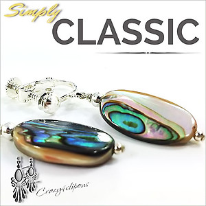 Organic Abalone Earrings | Your choice: Pierced or Clips