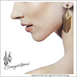 Gold Chandelier Dangling Earrings