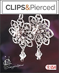 Rosette Sterling Silver Filigree Earrings | Your choice:  Pierced or Clips