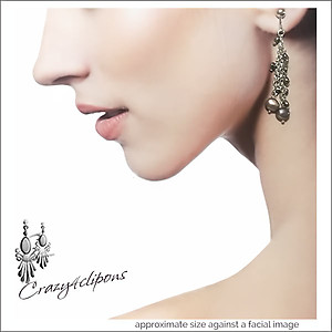 Little Pearl Dangling Earrings | Your choice:  Pierced or Clips