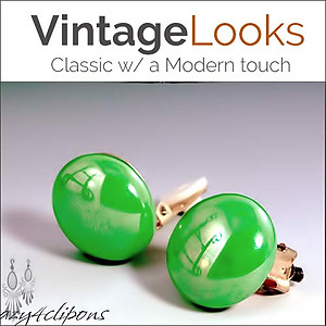 Vibrant & Colorful Cabochon Clip Earrings